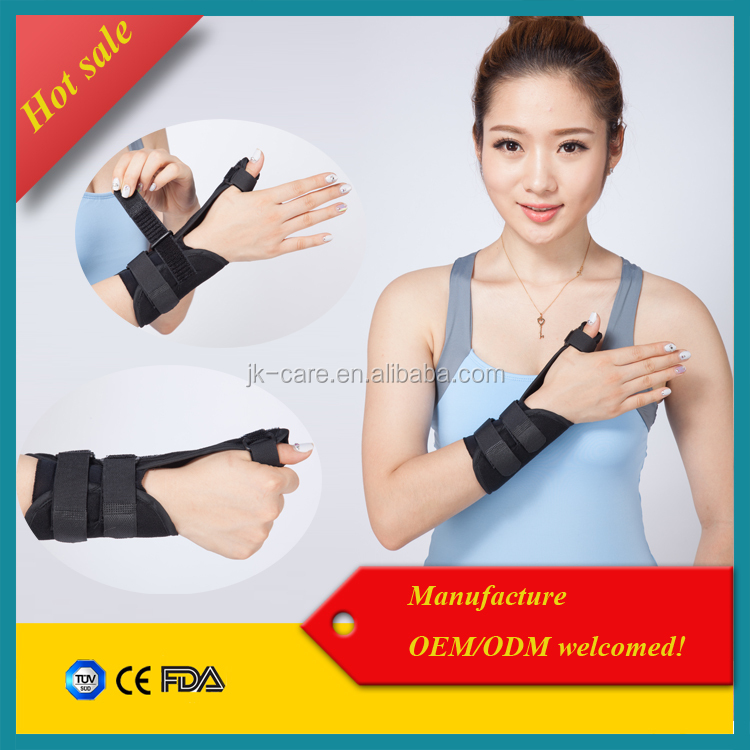 wrist thumb sprain immobilization splint orthopedic medical wrist support with low price
