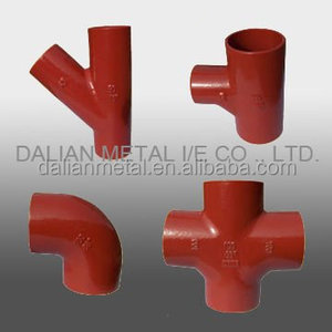 Cast Iron Fittings red style water system used pipe fitting