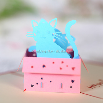 2017 3d pop up greeting cards cute cat and box birthday mother day 2017 3d pop up greeting cards cute cat and box birthday mother day thank you christmas m4hsunfo