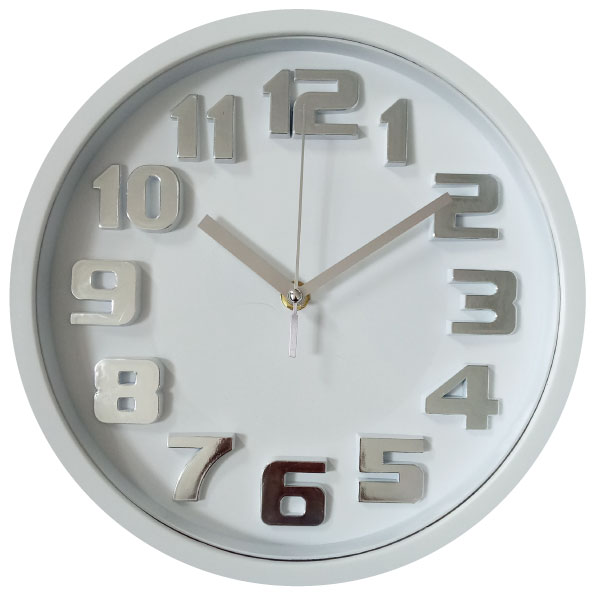 10 inches 3D plastic indoor modern wall clock with silence movement