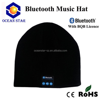 Wireless Bluetooth beanie Knit Stripped Hat With Headphones Handsfree For  Music 0355d3de571