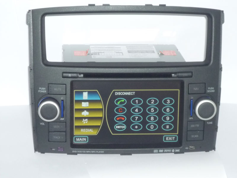 "special car navigation for Pajero with digital screen bluetooth, built-in GPS, support ""boss""system"