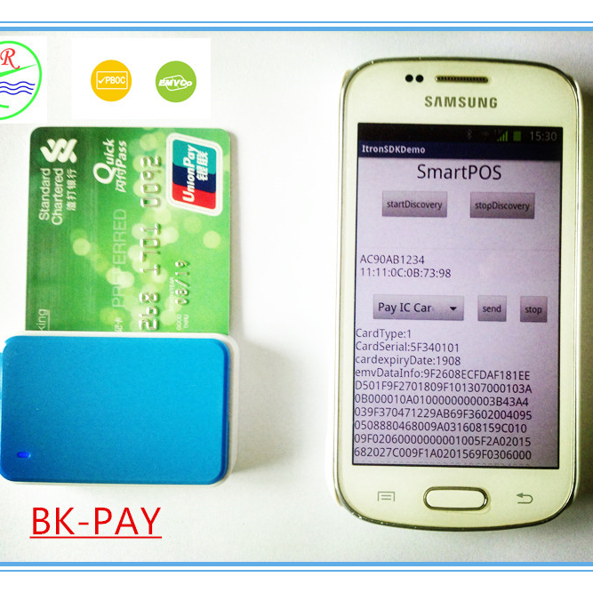 Mini 2 in 1 emv reader and writer emv chip card