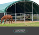 Cattle shelter llivestock tent animal shed sheep shelter shade Dome storage shelter steel structure PVC proof tent factory sale