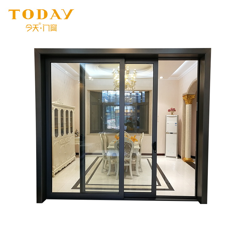 Morden Design 3 panel sliding glass closet patio doors price
