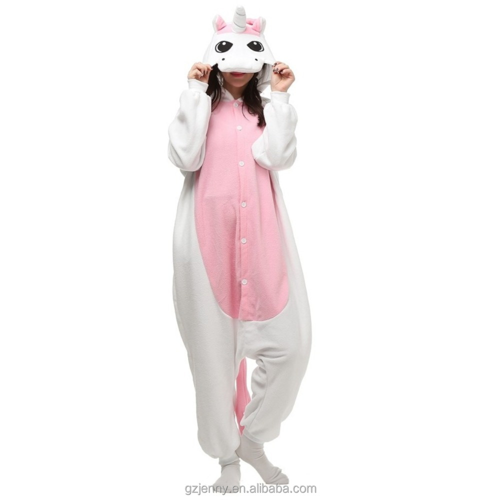 Custom Design Flannel Animal Adult Onesie Cosplay Unicorn Onesie For Women