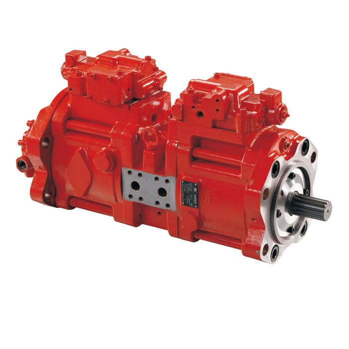 Kawasaki K3V63 hydraulic gear pump, mini hydraulic pump
