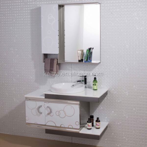 Spanish Style Space Saving Stainless Steel Bath Cabinets with sink