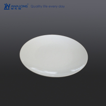 Wholesale round shape 11 inch ceramic pie plate / bone china white plate for restaurant