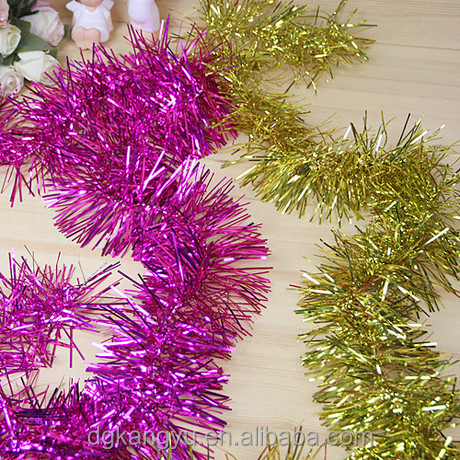 artificial Christmas glitter tinsel garlands for wedding gift