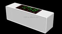 Wireless stereo Innovative gadget Music Box bluetooth speaker+FM Radio+clock+alarm+speaker with LCD