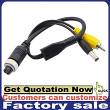 4 pin avaition to RCA car security camera cable for backup camera