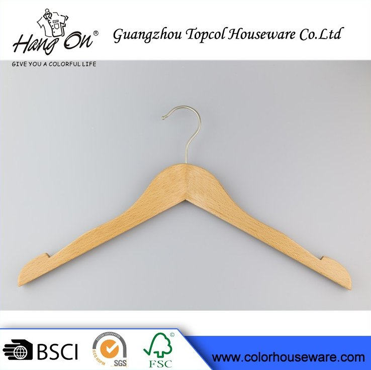 "Fashion Hair Extension Wooden Hanger Children Hanger 14"" Natural Wood Hanger"