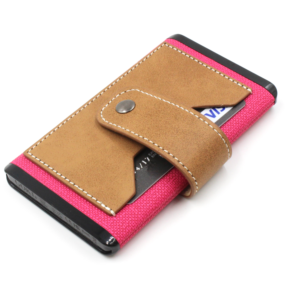Luxury Leather Charger Power Bank 5000 mAh, Portable Pink PU Leather Power Bank