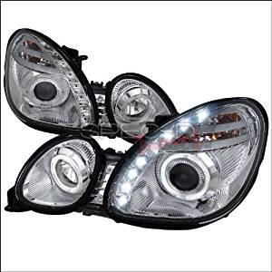 Spec-D Tuning Lexus GS 300 (Non-Factory Xenon Models) 1998 1999 2000 2001 2002 2003 2004 2005 Halo Projector Headlights - Chrome