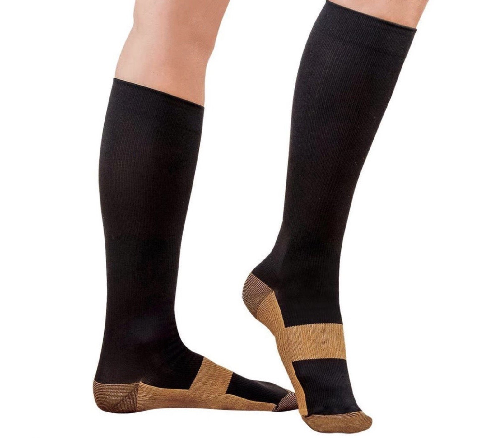 5ddaa4b8ef Get Quotations · Copper Compression Support Socks 20-30mmHg Graduated Men's  Women's by Compression Excellence (L/