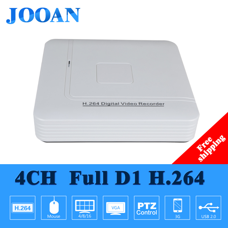 JOOAN Full D1 H.264 HDMI home Security System CCTV DVR 4 Channel Mini DVR Digital Video Recorder DVR with audio,HDMI,Cloud P2P