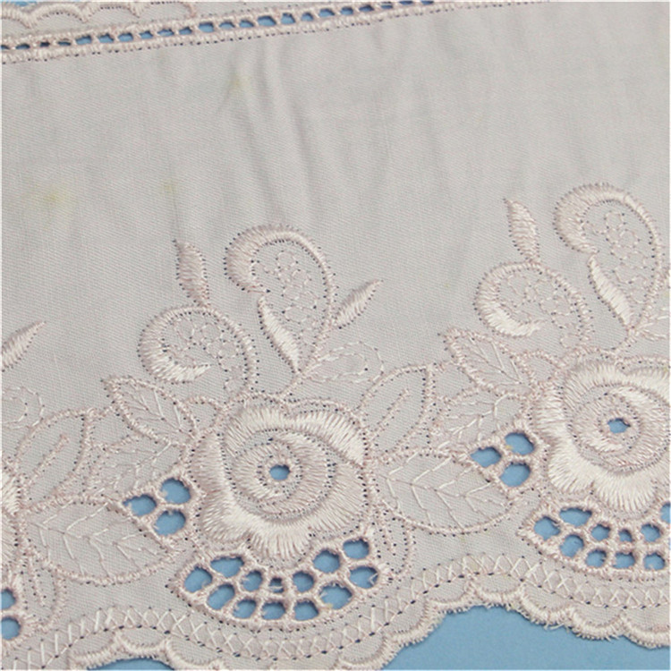 Hand Embroidery Net Fabric Beaded Lace Fabric