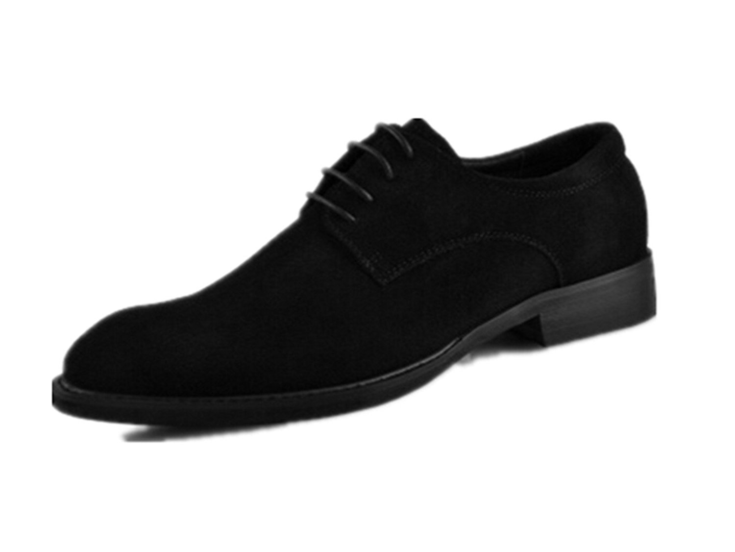 9cbc23527ec HAPPYSHOP(TM) Men s Nubuck Leather Business Dress Shoe Casual Oxford  Pointed Lace-up