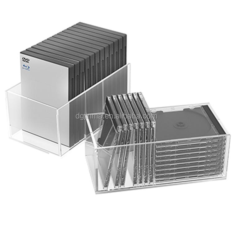 aanbieding clear acryl dvd opbergdoos cd lade doos houder compartiment box opbergdozen bakken. Black Bedroom Furniture Sets. Home Design Ideas
