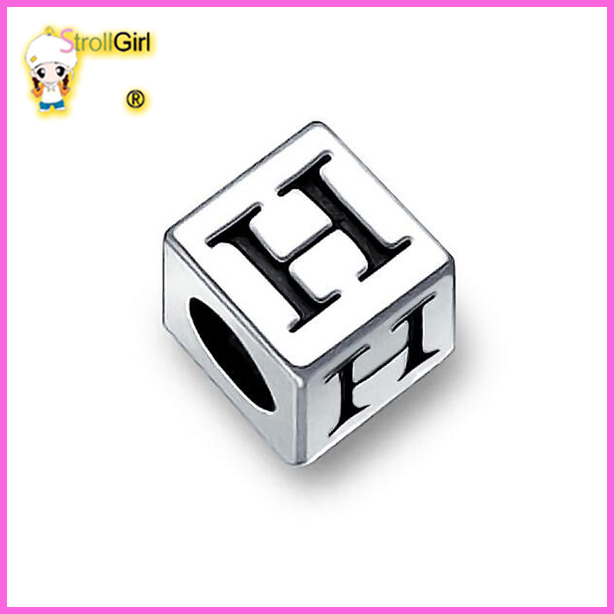 solid 925 sterling silver wholeasale initial H <strong>charms</strong>