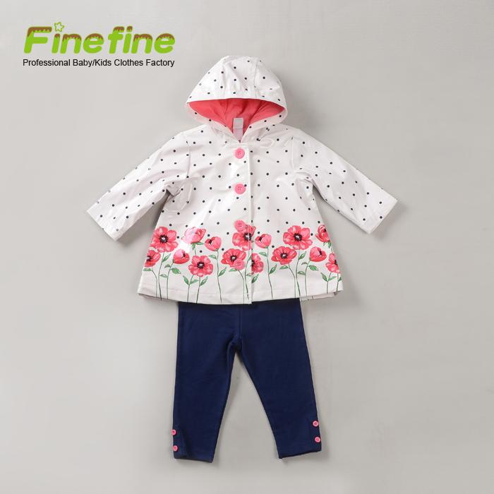 422a58705 أسعار الجملة الجديدة نمط مجموعة 3 قطع ملابس الطفل الربيع الطفلة معطف مجموعات