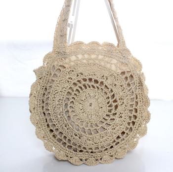 Dekorative Designer Runde Bast Stroh Häkeln Tasche Mexiko Buy Bast