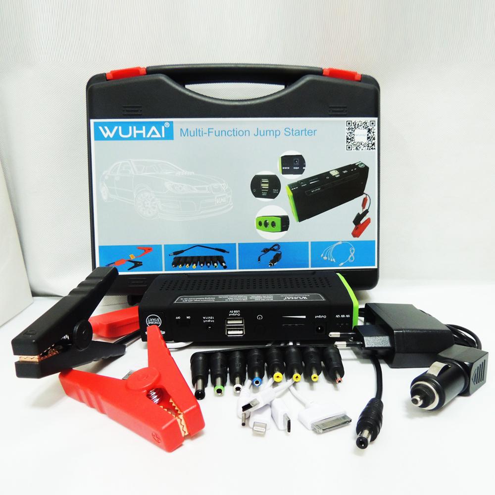 Wuhai супер 50800 мАч автомобиль скачок стартер авто двигатель EPS аварийный пуск источник аккумулятор ноутбука портативное зарядное устройство для мобильных зарядное устройство