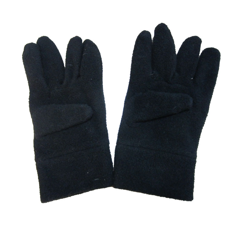 JS Black Color Custom Acrylic Knitted Gloves