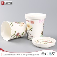 healthy life promotional ceramic cup with lid