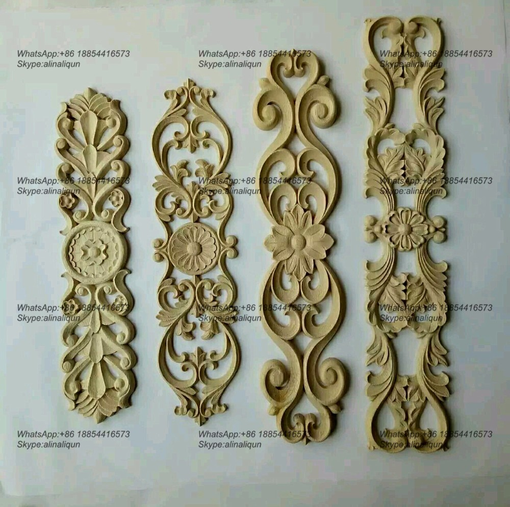 Wood carving furniture appliques onlays antique home