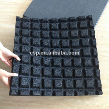 China Shock Absorber Thick Rubber Tile Outdoor Mats