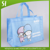 high quality china wholesale Custom logo light blue non woven tote hand bag for grocery Shopping package promotion Party gift