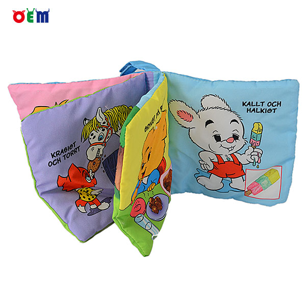 OEM gift kids educational toy fabric baby cloth book
