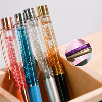 Cheap Metal Pen DIY Ballpoint Pen Liquid Glitter Metal Glitter Ballpoint Pen