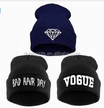 VOGUE Diamond bad hair day knit bonnet winter hat beanies for men  women 84808bb3bff