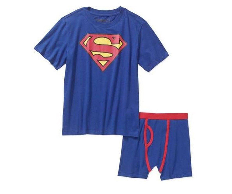 5a399e7daab Get Quotations · Underoos Boys Underwear Briefs and Shirt 2PC Set Paw  Batman Superman