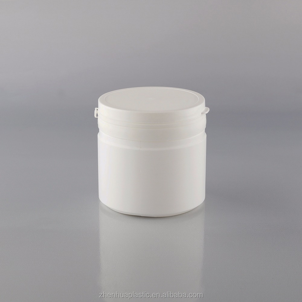500ml big volume HDPE white round plastic healthcare bottle formilk powder use with <strong>PE</strong> tearing cap