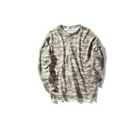 Loss fit digital camo t shirts with long sleeve