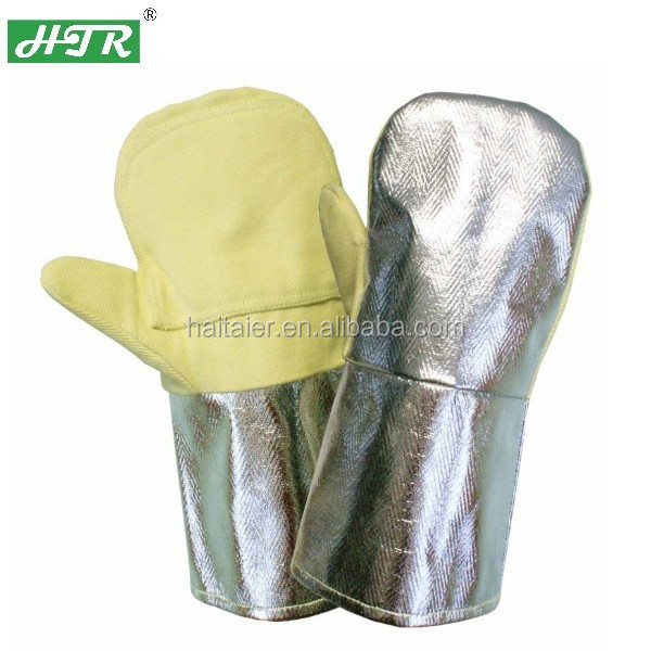 Htr 700 Degree Alumunized Back Aramid Fiber Heat Resistant Gloves ...