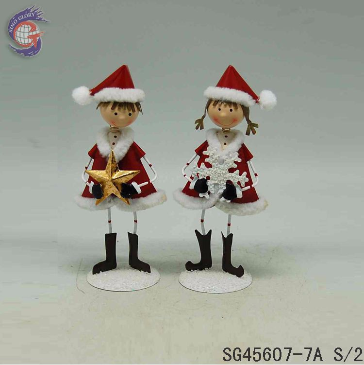 Christmas boy and girl home decoration gifts for newly married couple