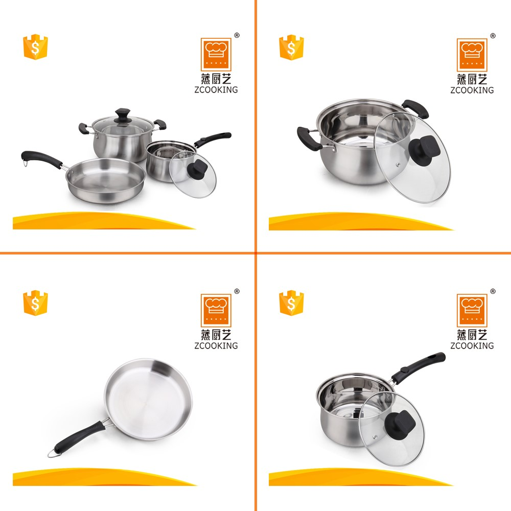 5 Pcs Stainless Steel Kitchen Queen Cookware Set - Buy Cookware ...