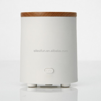 gh2135 geniue wood cover usb or batteries powered essential oil small portable fan diffusers with
