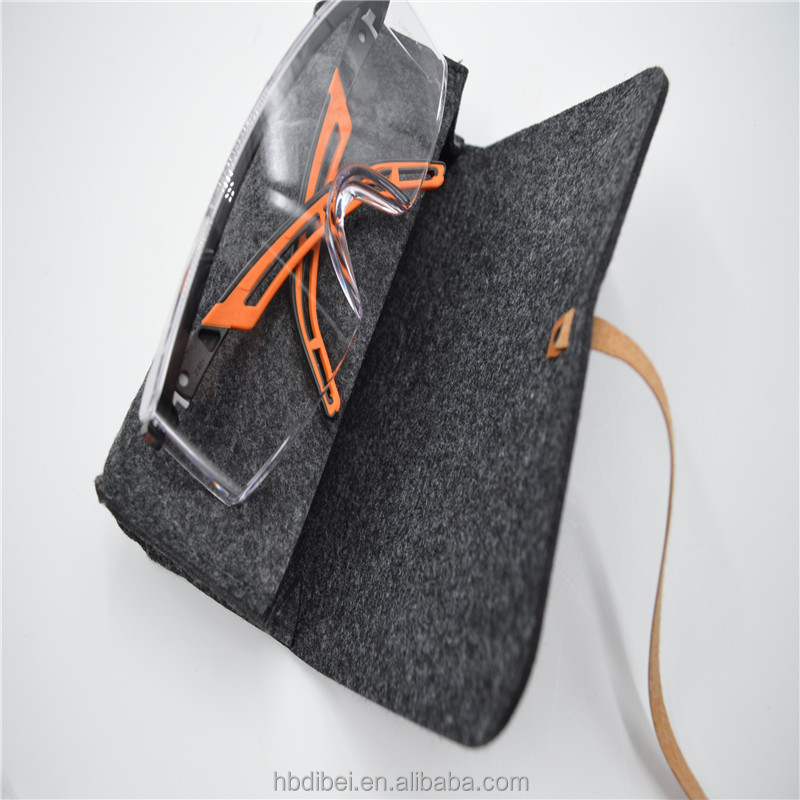 Felt soft foldable reading glasses case custom logo sunglasses bag