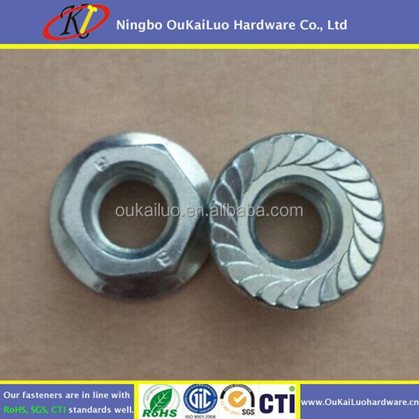Chinese Manufacturers Dacromet Hex Serrated Flange Nuts