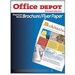 Office Depot(R) Premium Matte Brochure/Flyer Paper, 8 1/2in. x 11in., 35 Lb., 96 Brightness, Pack Of 150 Sheets