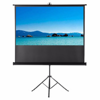 100inch Matt White HD Floor Bracket Foldable Stand Tripod Projector Screen For Home School