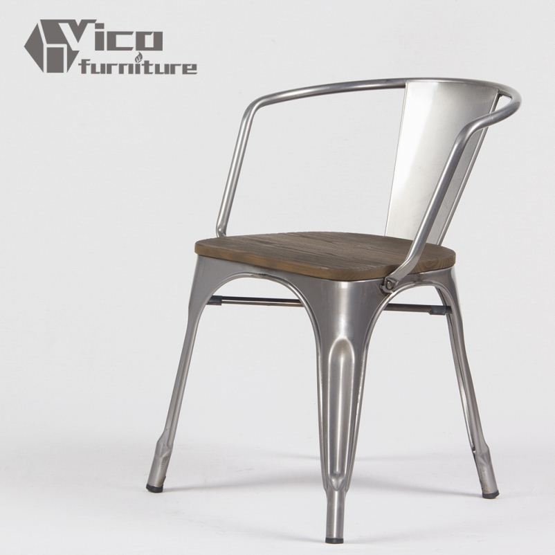 best price popular iron steel famous design rstaurant living room french bistro chairs