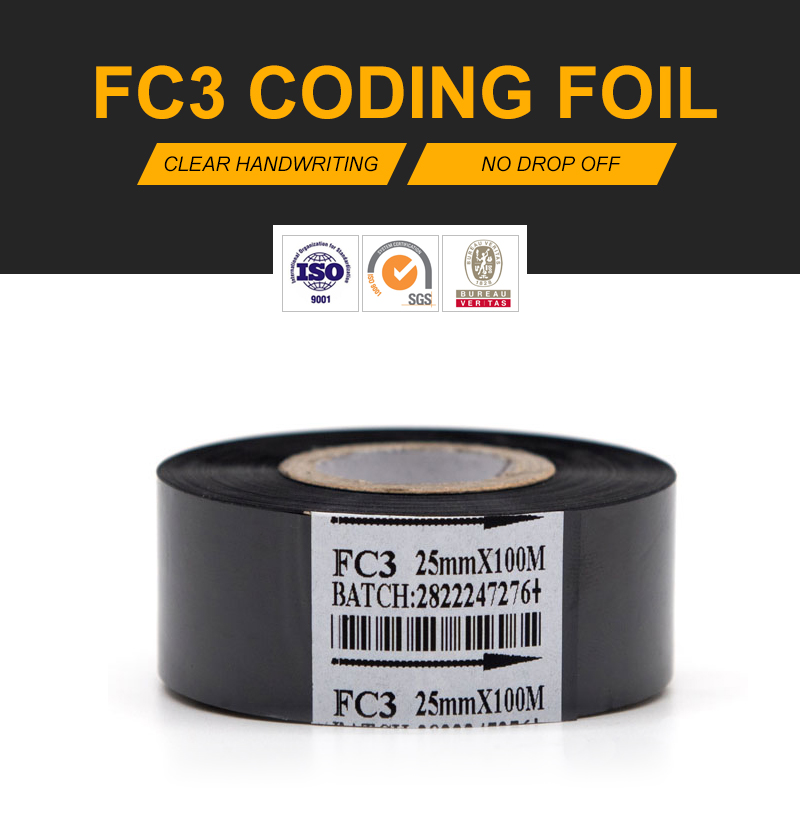 High quality 30mm*120m hot stamp coding foil for hot stamping coding machine