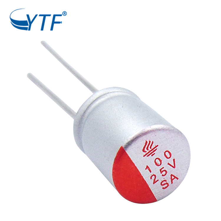 25V 100UF Aluminum Wholesale Free Sample Stock Solid Electrolytic Capacitor
